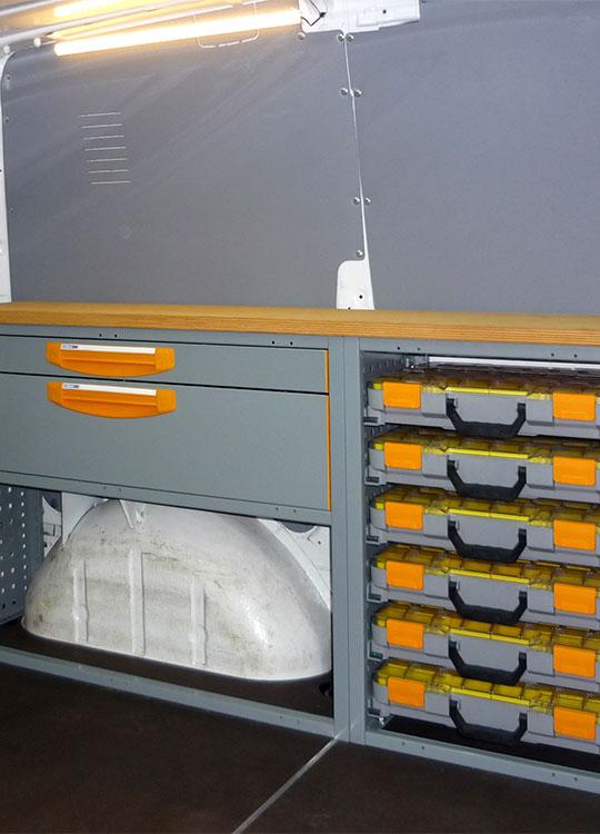 Allestimento furgone Vito L1 H1 - 3