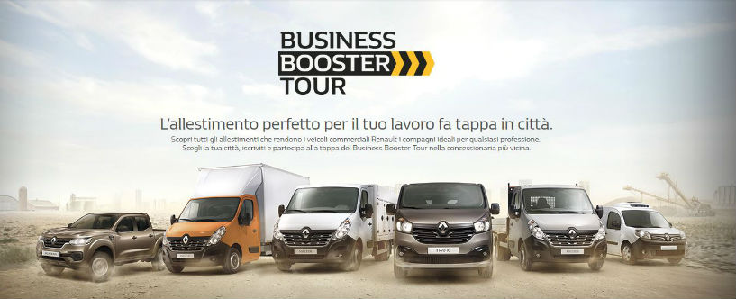 Allestimento Renault - BUSINESS BOOSTER TOUR 2018