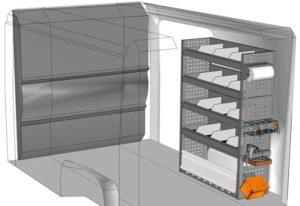 Equipamiento furgoni Ducato L1 H1 / CH1 DU-1014-01