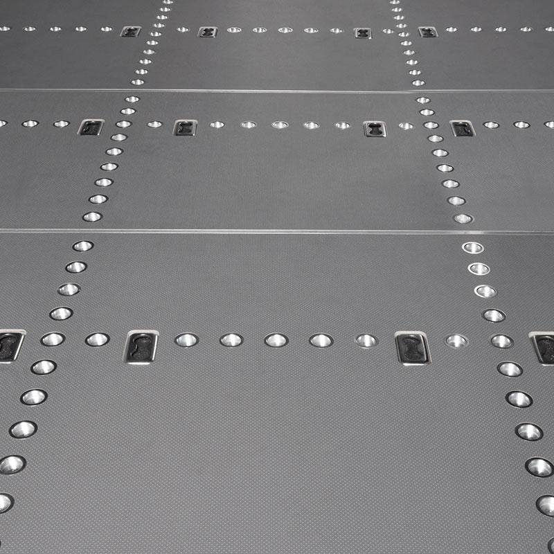 Pianale per furgone con struttura safety-cross