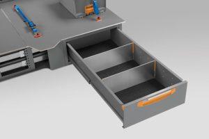 Cassettiere sottopianale per furgoni