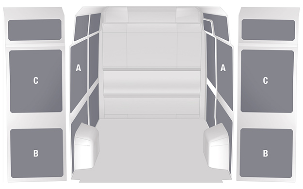 Panelling for Ducato - Honeycomb