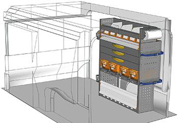 Allestimento furgoni EX-1012-P3