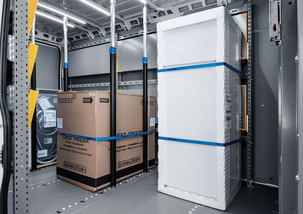 Fahrzeugeinrichtung für Paketdiensten