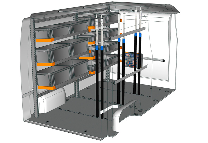 Allestimento furgoni Master Light Shelf MA L2H2 L1