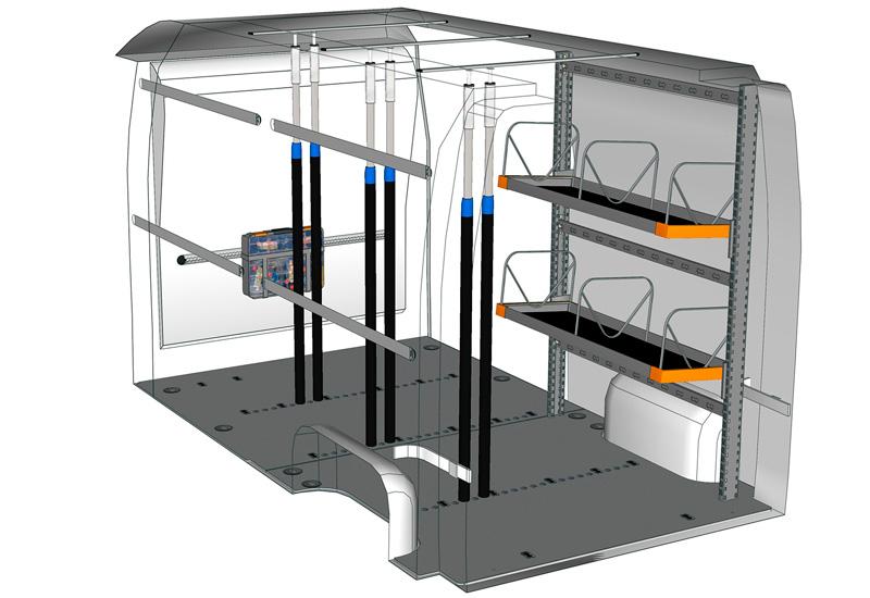 Allestimento furgoni Movano Light Shelf MA L2H2 L2