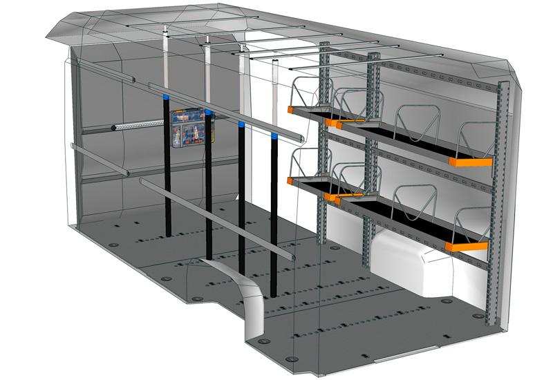 Esempio allestimento Boxer Light Shelf DU L5H2 L2