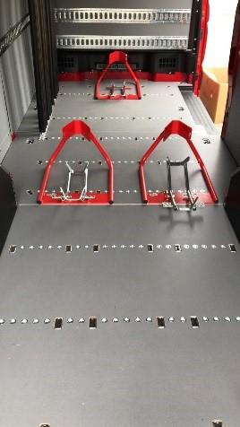 Pianale per furgone Crafter e per trasporto moto