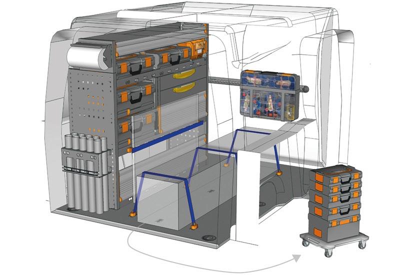 Fahrzeugeinrichtungen Opel Combo Mobile PA L1H1 M1