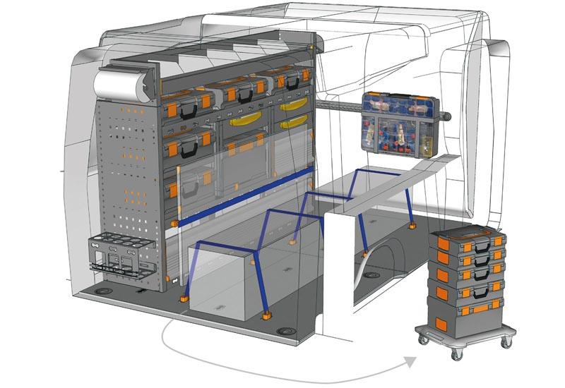 Fahrzeugeinrichtungen Opel Combo Mobile PA L2H1 M1