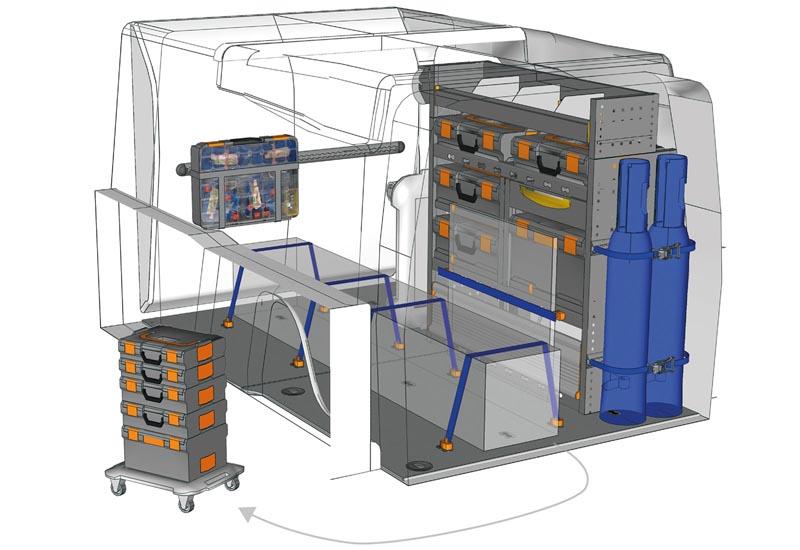 Fahrzeugeinrichtungen Opel Combo Mobile PA L2H1 M2