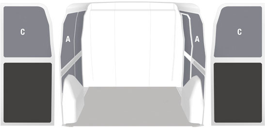 Interior panelling and coverings for Berlingo Honeycomb
