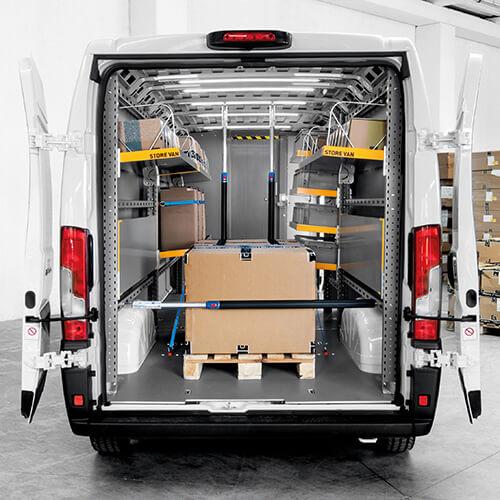 Repisas abatibles para furgonetas