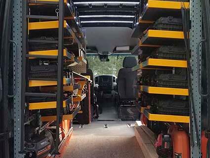 L'allestimento di Store Van viene scelto da una ditta americana