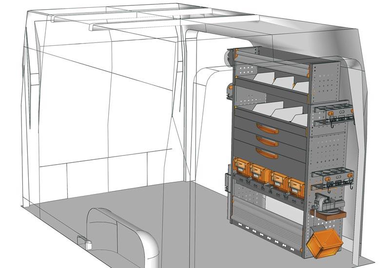 Wyposażenie samochodów dostawczych Sprinter SP 1015 09