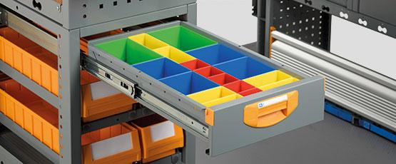 Szafka szufladowa do samochodów dostawczych Drawer S4
