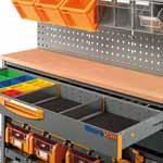 Banco da lavoro con cassetti per furgone
