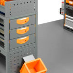 Shelving units with drawers for vans