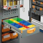 Plastic divider trays for small parts