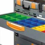 Metalowe szafki szufladowe do samochodów dostawczych z aluminiowymi przegrodami