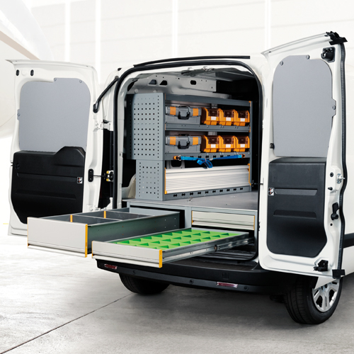 Cassettiera sottopianale per furgoni