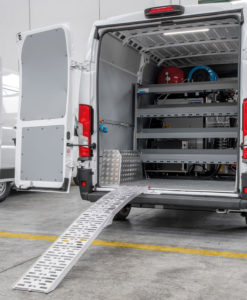 Folding aluminium loading ramps