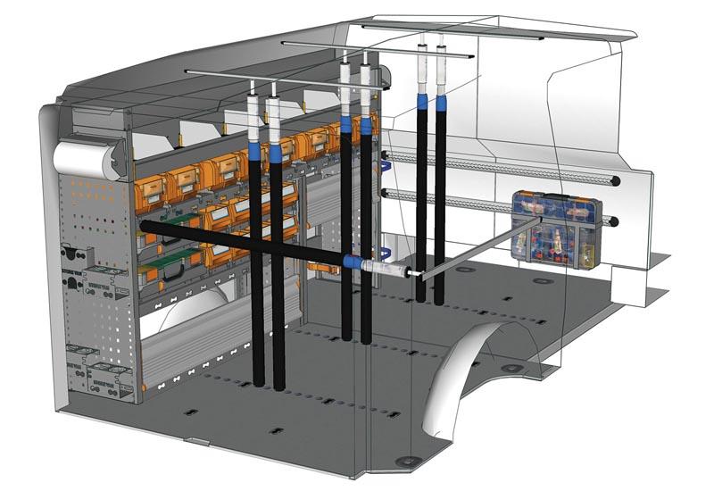 Wyposażenie samochodów dostawczych Vito Professional VT L1LH1 P1