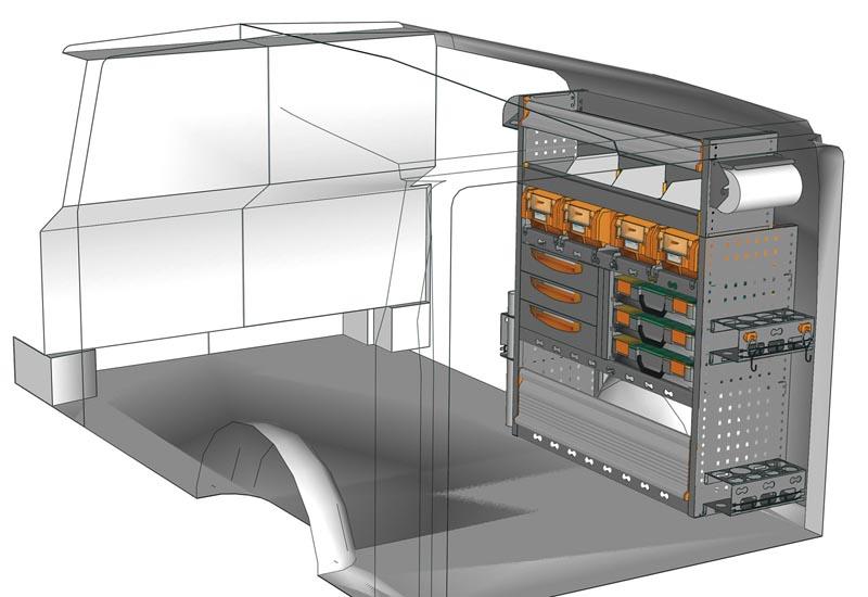 Wyposażenie samochodów dostawczych Vito VT 1012 P4