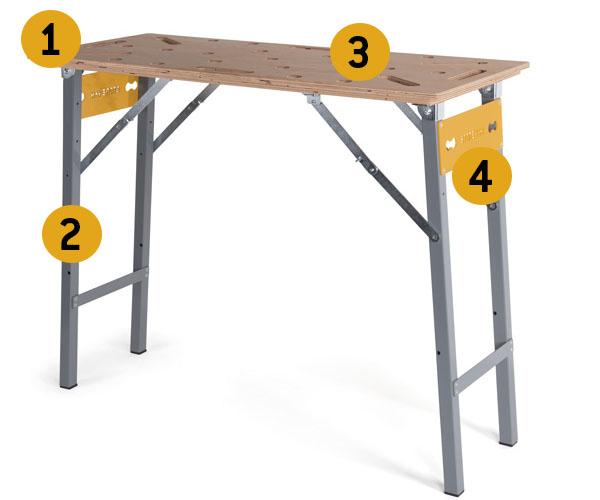 Składany stół warsztatowy