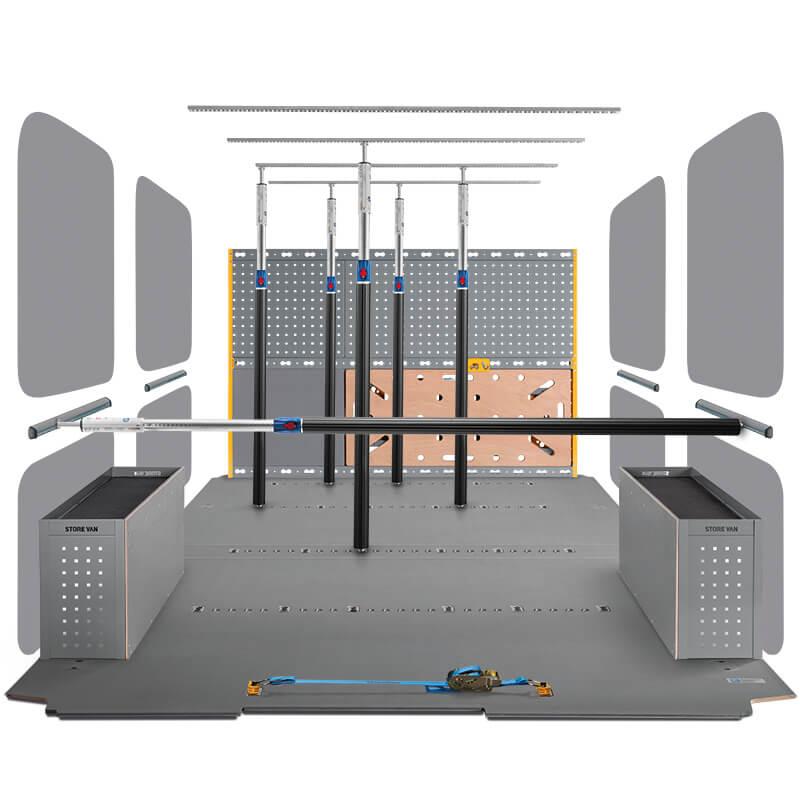 Revêtements intérieurs pour fourgons avec coefficient de friction certifié par TÜV
