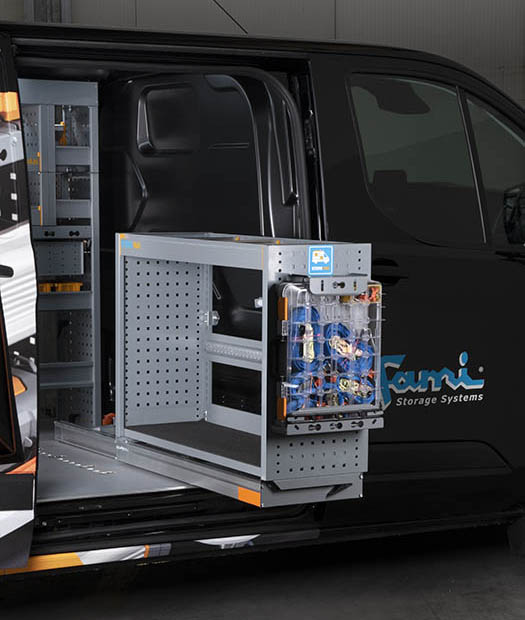 Sistema estraibile per furgone TAKE OUT