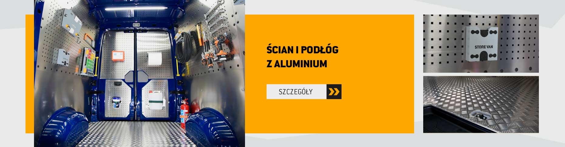 Podłogi i panele wewnętrzne z aluminium
