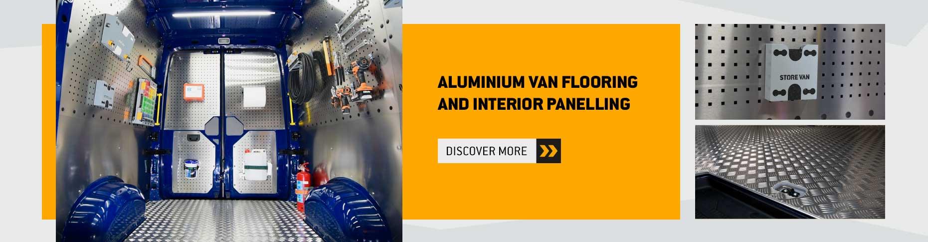 Aluminium van interior lining