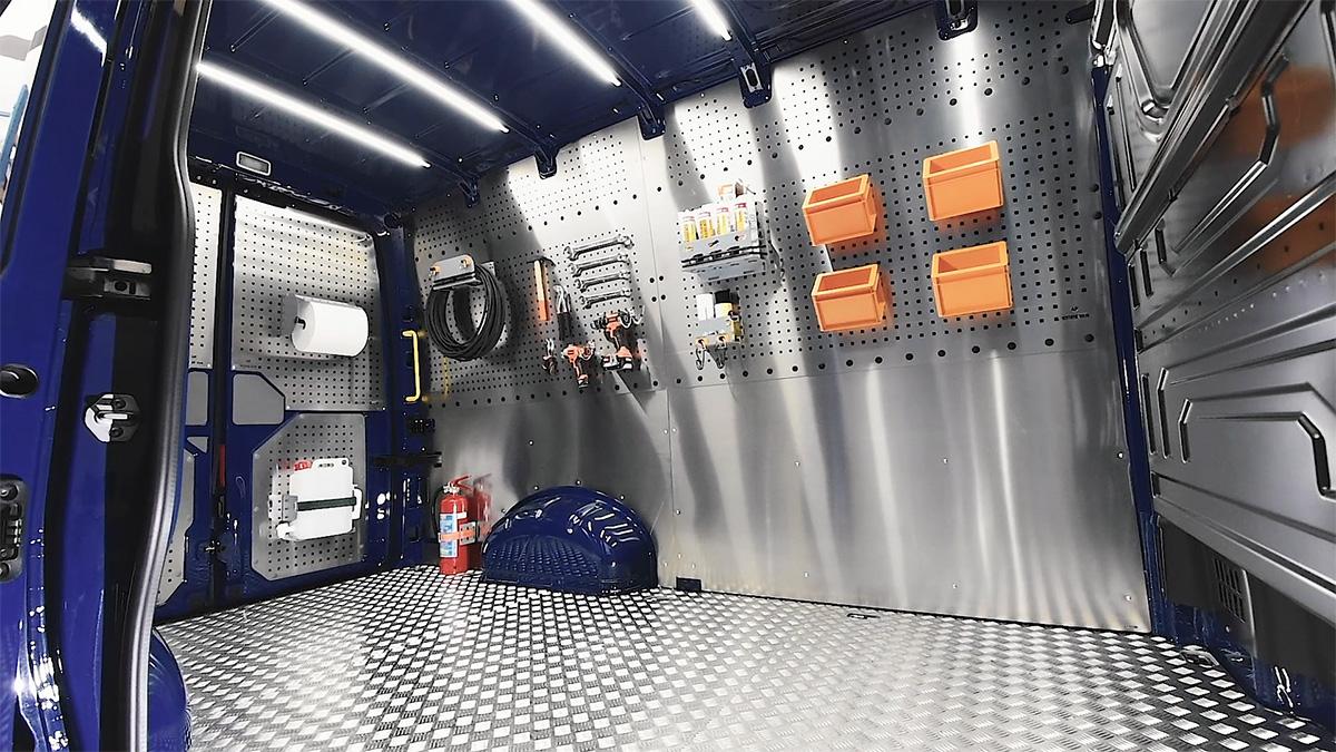 Paneles de aluminio para furgonetas