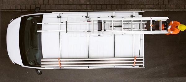 Support multifonction et porte-échelles pour Volkwagen Crafter